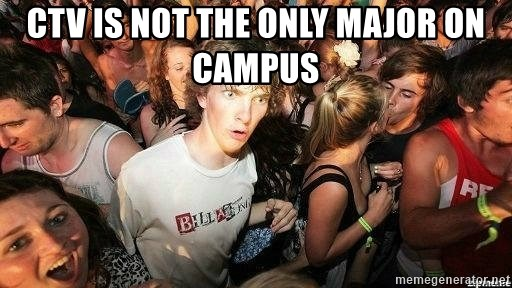 -Sudden Clarity Clarence - ctv is not the only major on campus