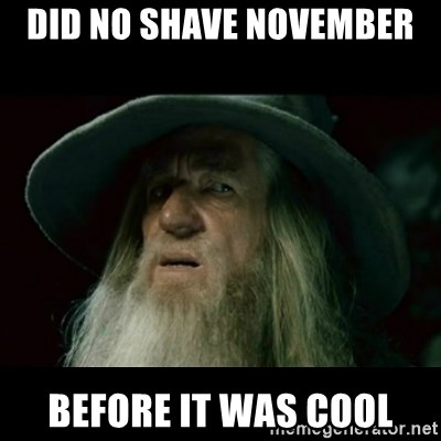 no memory gandalf - DID NO SHAVE NOVEMBER  BEFORE IT WAS COOL