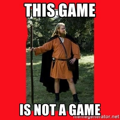 LARP Snob - This game is not a game