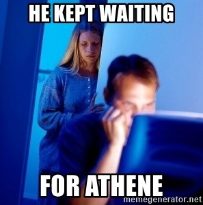 Internet Husband - He kept waiting for Athene