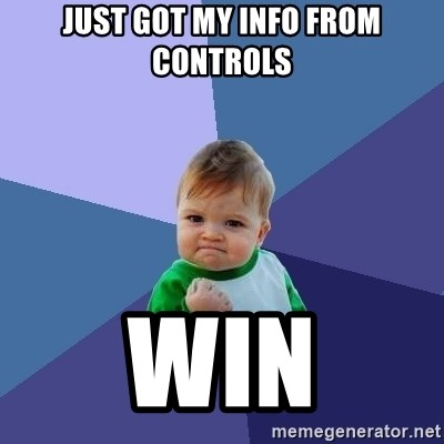 Success Kid - Just got my info from Controls Win