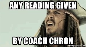 Jack Sparrow Reaction - any reading given by coach chron