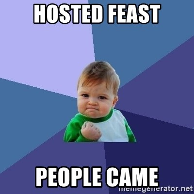 Success Kid - Hosted Feast People Came