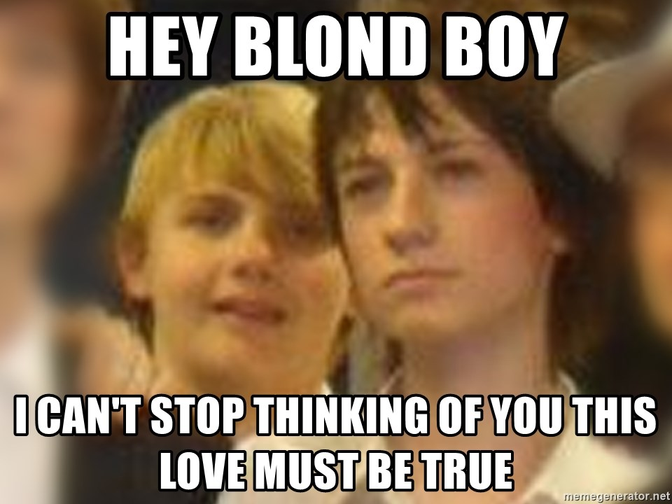 Thoughtful Child - hey blond boy i can't stop thinking of you this love must be true