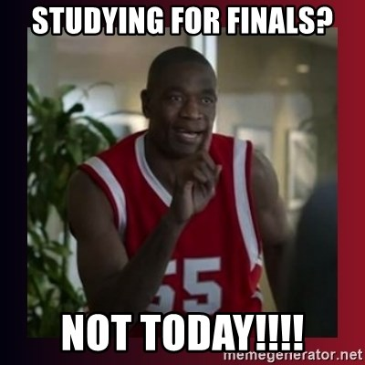 Dikembe Mutombo - studying for finals? not today!!!!
