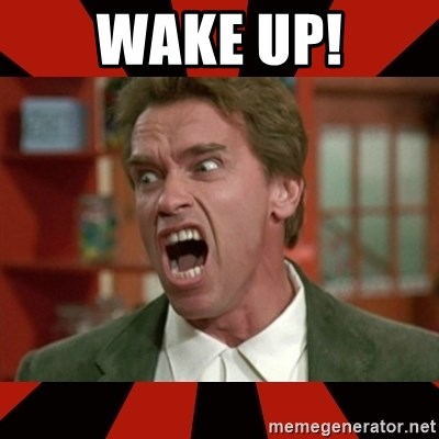 Arnold Schwarzenegger 1 - WAKE UP!