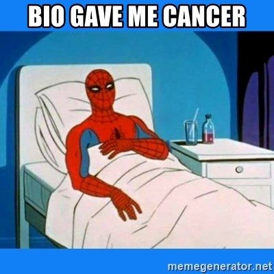 spiderman sick - Bio gave me cancer