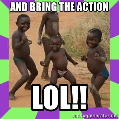 african kids dancing - AND BRING THE ACTION LOL!!