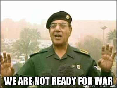 Iraqi Information Minister -  We are not ready for war