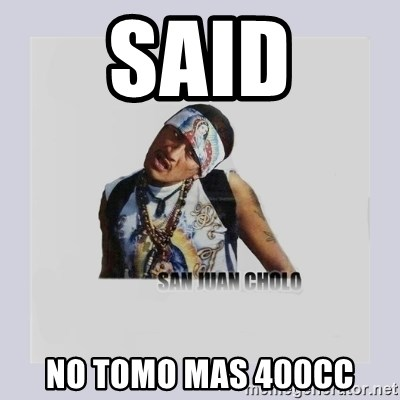 san juan cholo - SAID NO TOMO MAS 400CC
