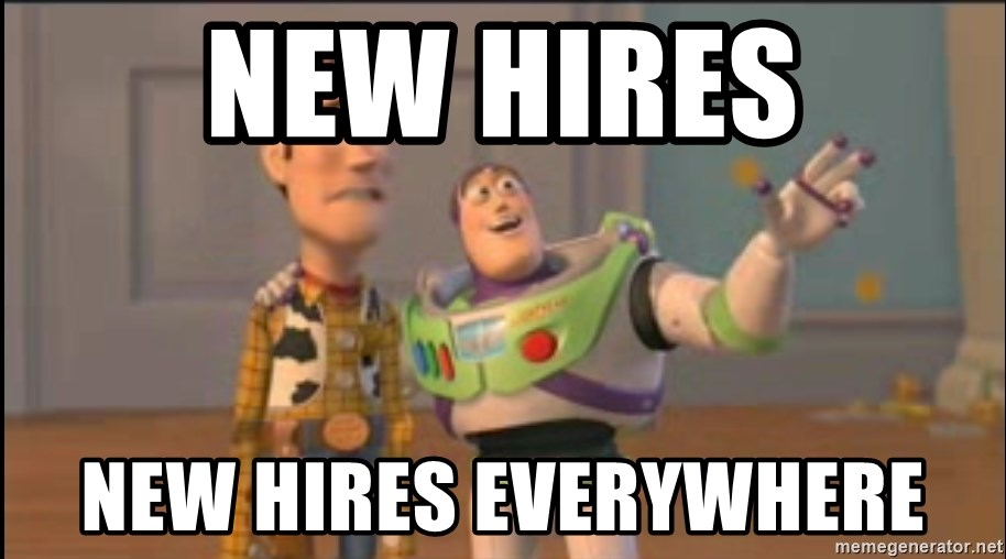 X, X Everywhere  - New hires New Hires Everywhere