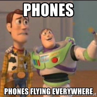Buzz - Phones Phones flying everywhere