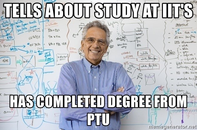Engineering Professor - Tells about study at IIT's Has completed degree from ptu