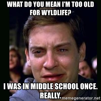 crying peter parker - What do you mean I'm too old for WyldLife? I was in middle school once. really.
