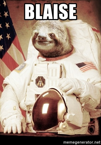 space sloth - Blaise