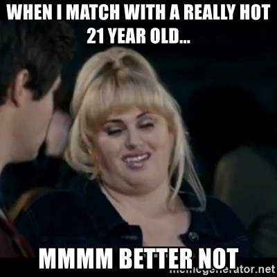 Better Not - When i Match with a really hot 21 year old... MMmm better not
