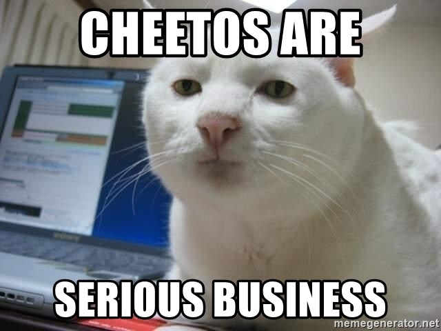 Serious Cat - Cheetos are serious business