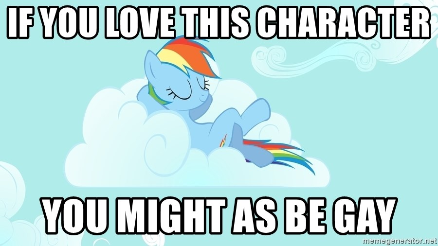 Rainbow Dash Cloud - If you love this character you might as be gay