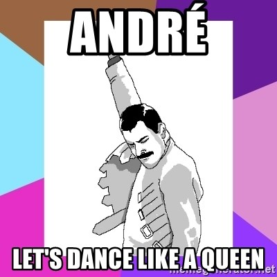 Freddie Mercury rage pose - André Let's dance like a queen