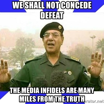 Comical Ali - We shall not concede defeat the media infidels are many miles from the truth