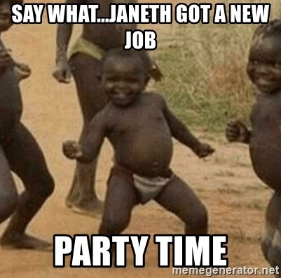 Success African Kid - Say what...Janeth got a new Job Party time