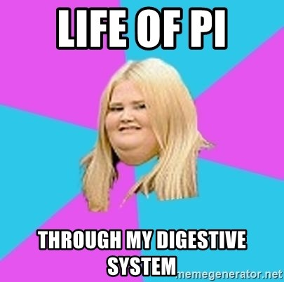 Fat Girl - life of pi through my digestive system