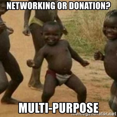 Black Kid - Networking or Donation? Multi-Purpose