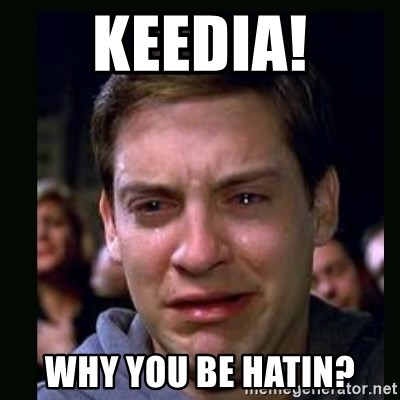 crying peter parker - Keedia! why you be hatin?