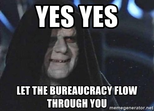 Creepy Emperor Palpatine - yes yes let the bureaucracy flow through you