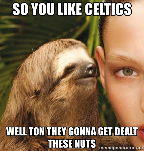 The Rape Sloth - So you like celtics  Well ton they gonna get dealt these nuts