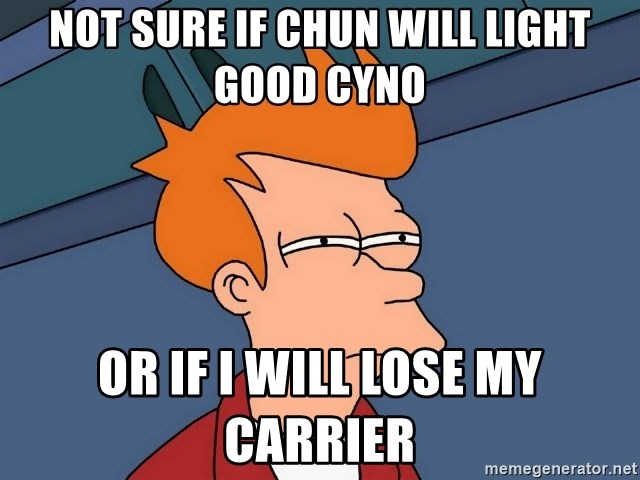 Futurama Fry - Not sure if chun will light good cyno or if I will lose my carrier