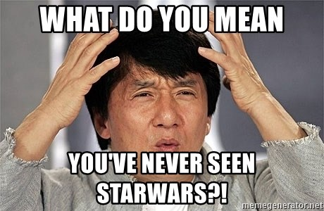 Jackie Chan - what do you mean you've never seen starwars?!