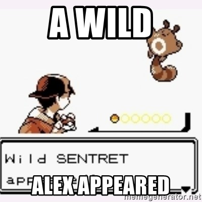 a wild pokemon appeared - A WILD ALEX APPEARED