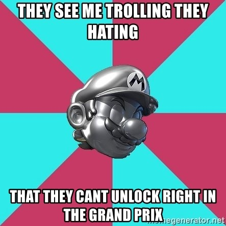 Metal Mario MK7 - They see me trolling they hating that they cant unlock right in the grand prix