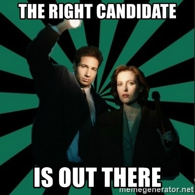 """Typical fans """"The X-files"""" - The right candidate is out there"""
