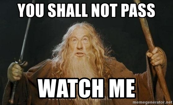 You shall not pass - YOU SHALL NOT PASS WATCH ME