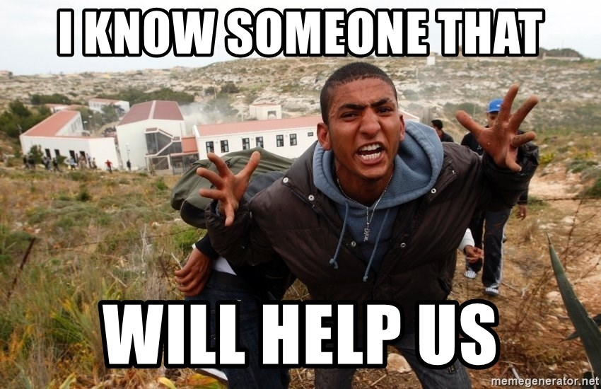 muslim immigrant - I KNOW SOMEONE THAT WILL HELP US