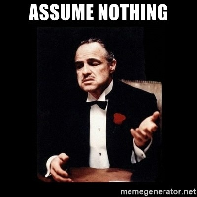 The Godfather - ASSUME NOTHING