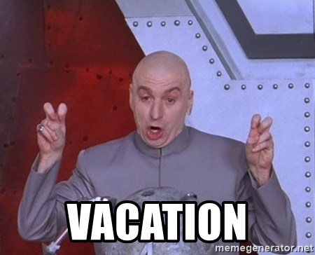Dr. Evil Air Quotes -  vacation
