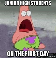 D Face Patrick - JUnior High Students ON The FiRst Day