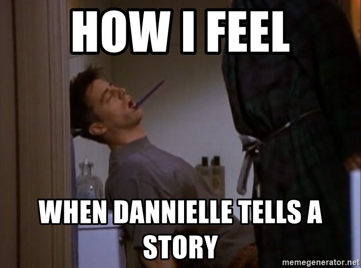 Bored sleeping Joey - how i feel when dannielle tells a story