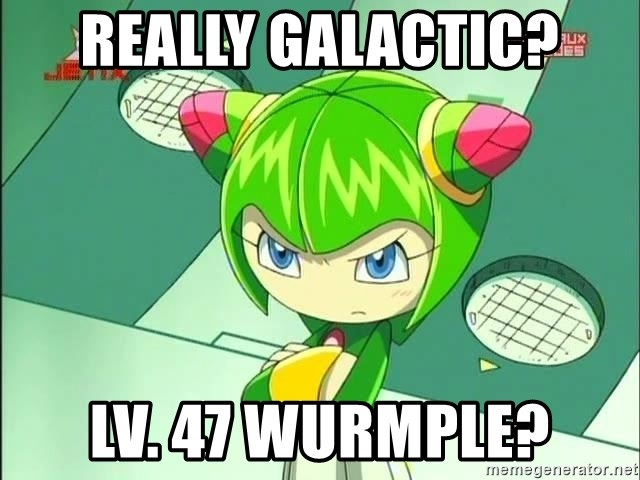 Disappointment Cosmo - really galactic? Lv. 47 wurmple?