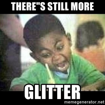 "Black kid coloring - THERE""S STILL MORE GLITTER"