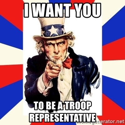 uncle sam i want you - I want you to be a troop representative