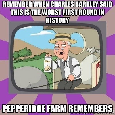 Pepperidge Farm Remembers FG - remember when charles barkley said this is the worst first round in history pepperidge farm remembers