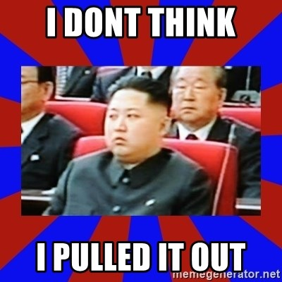 kim jong un - I DONT THINK  I PULLED IT OUT