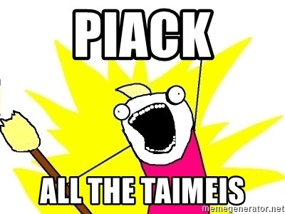 X ALL THE THINGS - PIACK ALL THE TAIMEIS