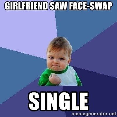 Success Kid - girlfriend saw face-swap single