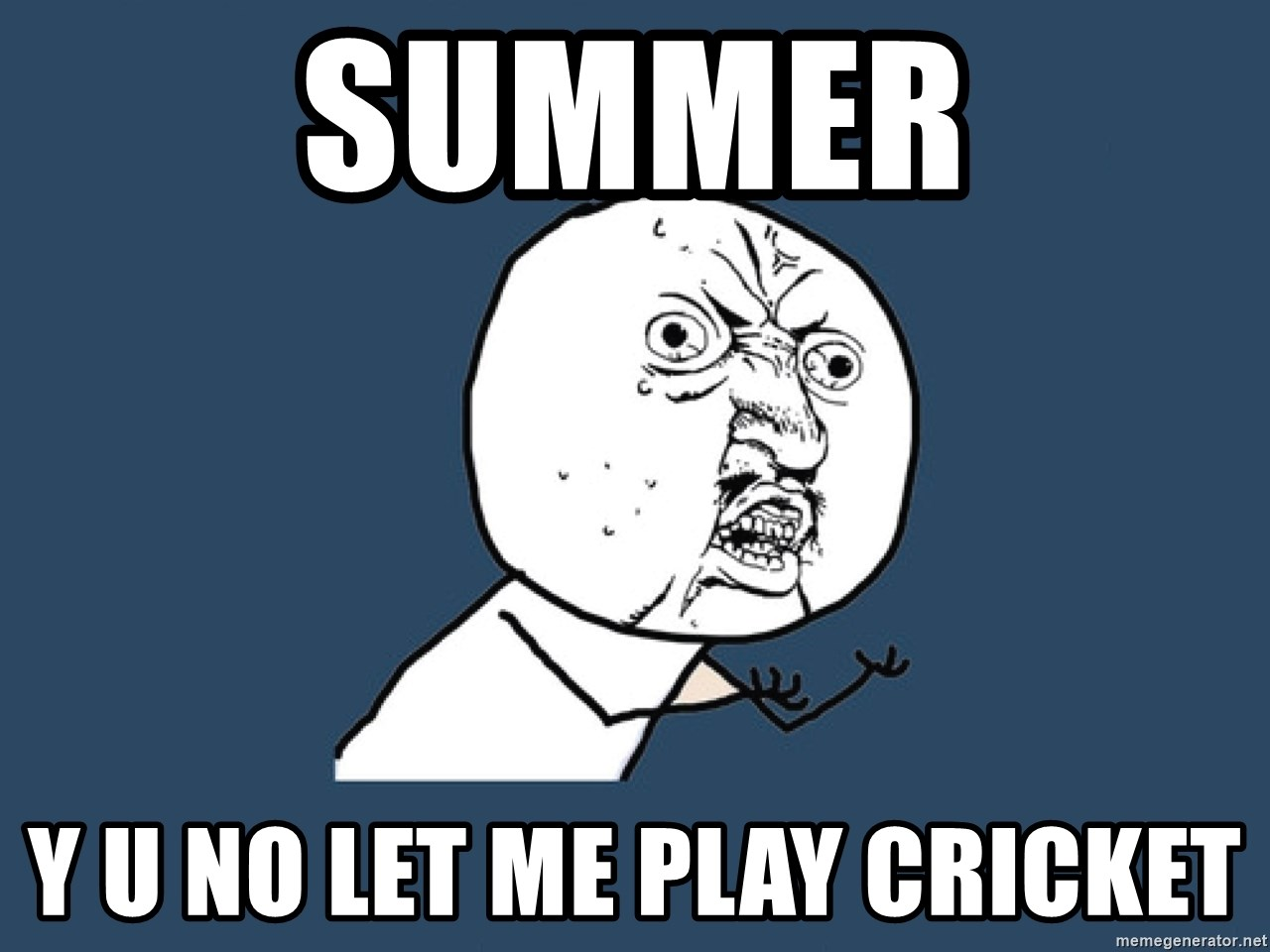 Y U No - SUMMER y u no let me play cricket