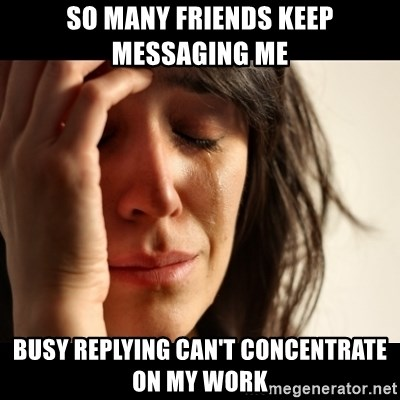 crying girl sad - SO MANY FRIENDS KEEP MESSAGING ME BUSY REPLYING CAN'T CONCENTRATE ON MY WORK